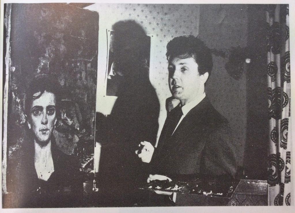 Илья Глазунов рядом с портретом Марины Дранишниковой